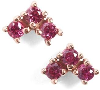 Bea Yuk Mui Anna Sheffield 'Bea' Ruby Arrow Stud Earrings