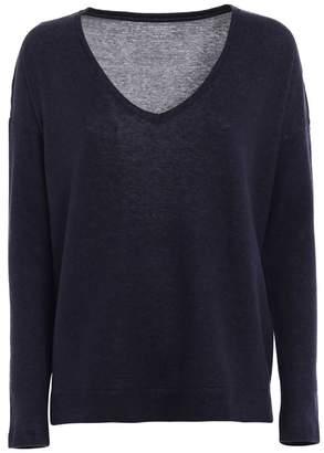 Majestic Filatures Cotton And Cashmere V-neck T-shirt