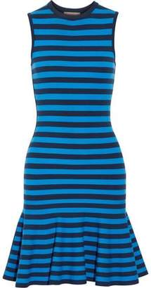 Michael Kors Striped Stretch-Knit Mini Dress