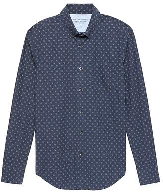 Banana Republic Grant Slim-Fit Luxe Poplin Fox Print Shirt