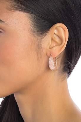 Panacea Pink Crystal Beaded Mini Hoop Earrings