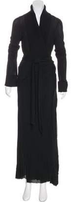 Donna Karan Belted Long Coat