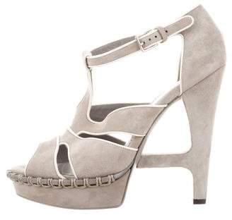 Saint Laurent Suede Buckle Sandals