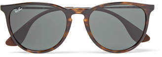 Ray-Ban Erika Round-Frame Tortoiseshell Acetate Sunglasses - Men - Brown