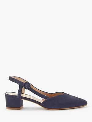 92c8864375 John Lewis & Partners Alyssa Slingback Block Heel Court Shoes