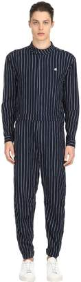 Avernus Racer Striped Denim Jumpsuit