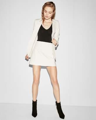 Express High Waisted Clean A-Line Mini Skirt