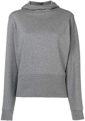 Closed hooded fitted sweater