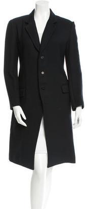 Yohji Yamamoto Long Sleeve Knee-Length Coat w/ Tags $495 thestylecure.com