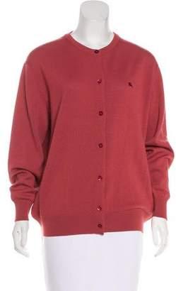 Burberry Long Sleeve Knit Cardigan