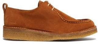 Ami Low Top Suede Derby Shoes - Mens - Tan