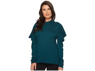 Vince Camuto Long Sleeve Mock Neck Drape Shoulder Sweater Women's Sweater