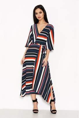AX Paris Womens Striped Colour Block Dress - Black