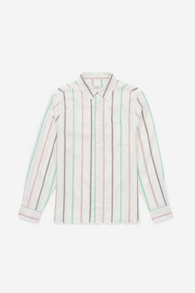 Saturdays NYC Mickey Tencel Stripe Button Down Shirt