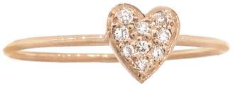 Jennifer Meyer Diamond Heart Stacking Ring - Rose Gold