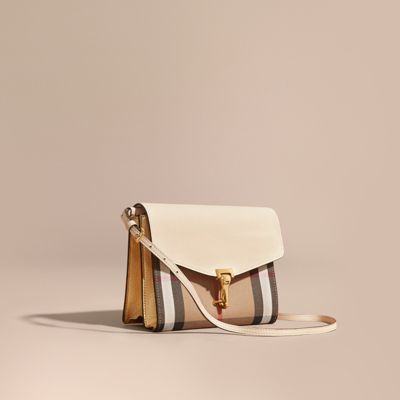 Burberry  Burberry Small Leather and House Check Crossbody Bag
