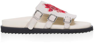 Alexander McQueen Three-Buckle Embroidered Sandals