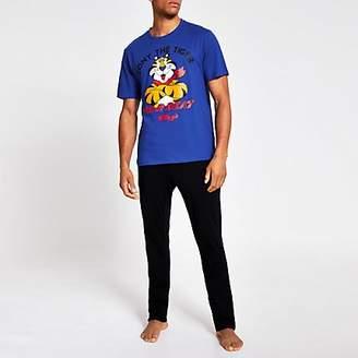 River Island Blue Tony the Tiger Kellogg's pyjama set
