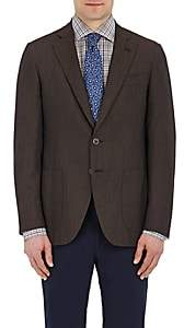 Isaia MEN'S GREGORY CASHMERE TWO-BUTTON SPORTCOAT-BROWN SIZE 42 R