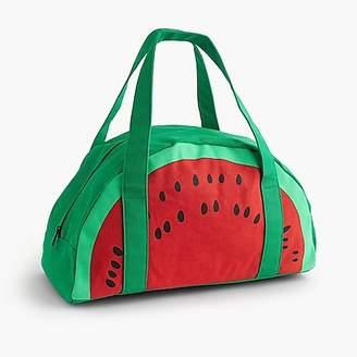 J.Crew Girls' watermelon overnight bag