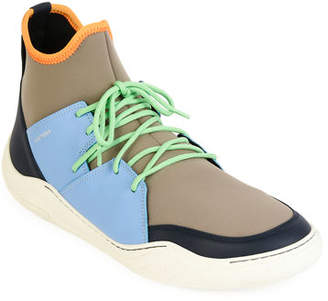 Lanvin Men's Colorblock Neoprene & Leather Sneakers