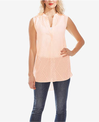Vince Camuto Sleeveless Semi-Sheer Blouse