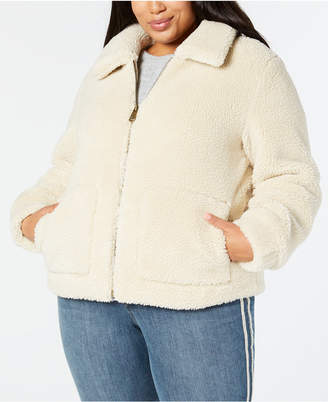Style&Co. Style & Co Plus Size Teddy Jacket, Created for Macy's