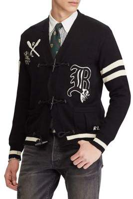 Polo Ralph Lauren Distressed Letterman Cotton Cardigan