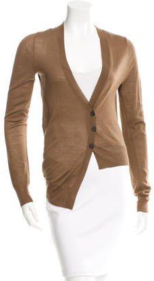 Vera Wang Wool Button-Up Cardigan $75 thestylecure.com