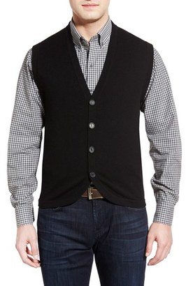 Cutter & Buck Bosque Wool & Cashmere Sweater Vest (Big & Tall) $160 thestylecure.com