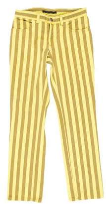 Marc Jacobs Striped Mid-Rise Straight-Leg Jeans