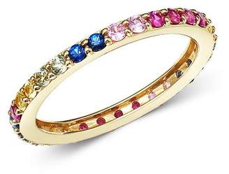 Bloomingdale's Rainbow Sapphire Band in 14K Yellow Gold - 100% Exclusive