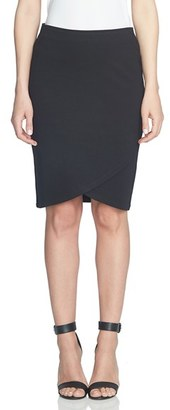 Women's Cece Ponte Faux Wrap Pencil Skirt $69 thestylecure.com