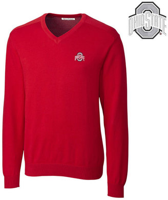 Cutter & Buck Men's Ohio State Buckeyes Broadview V-Neck Sweater $90 thestylecure.com