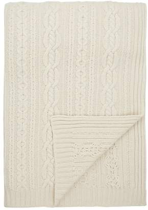 Barneys New York Cable-Knit Cashmere Throw
