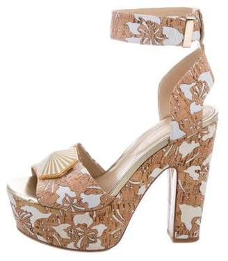 Nicholas Kirkwood Laser Cut Platform Sandals