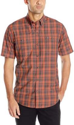G.H. Bass Men's Short Sleeve Fancy Explorer Large Plaid Shirt