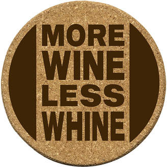 Asstd National Brand Thirstystone More Wine Less Whine Set of 6 Cork Coasters