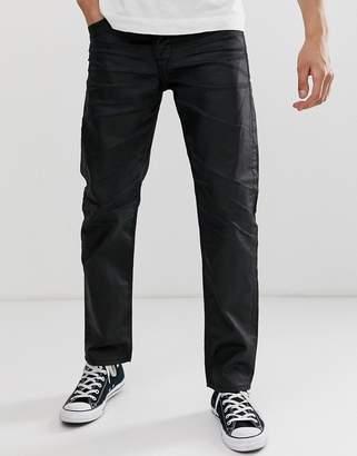 Jack and Jones regular coated denim jeans