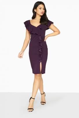 Girls On Film Silhouette Ruffle Dress