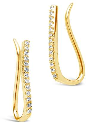 49e312231 Sterling Forever 14K Yellow Gold Plated Sterling Silver Pave CZ Ear Crawlers