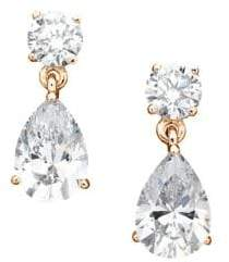 Crislu Rose Goldtone Classic Pear Drop Earrings