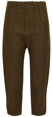 Marni Cropped Linen And Wool-blend Straight-leg Pants