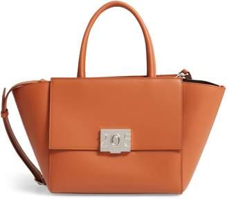 Calvin Klein Bonnie Top Handle Leather Satchel