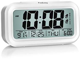 Peakeep Digital Alarm Clock with 2 Alarms for Optional Weekday Mode