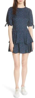 Rebecca Taylor Speckled Dot Silk Minidress