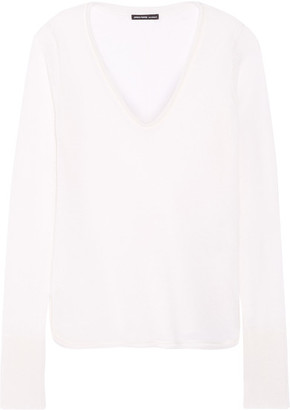 James Perse - Cashmere Sweater - Off-white $350 thestylecure.com