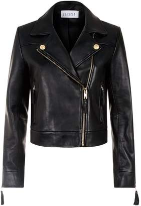 Claudie Pierlot Tassel-Trim Leather Jacket