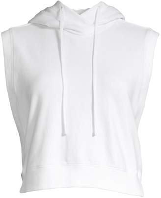 Blanc Noir Michi Sleeveless Cropped Hoodie