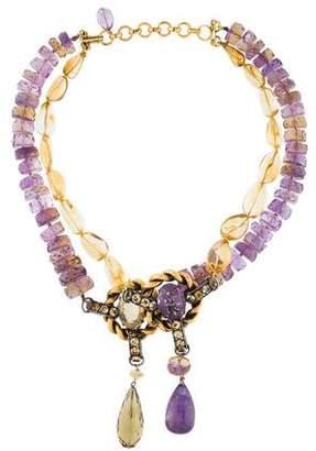 Iradj Moini Citrine, Amethyst & Ametrine Double Strand Necklace